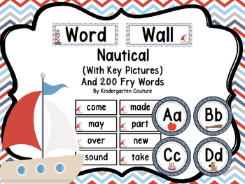 Nautical Theme Word Wall and 200 Fry Words