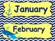 Nautical Theme Word Wall and Calendar Headings