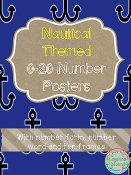Nautical Themed 0-20 Numbers Posters