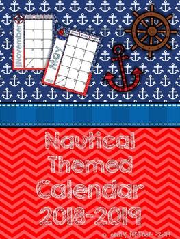 Nautical Themed 2017-2018 School Year Calendar