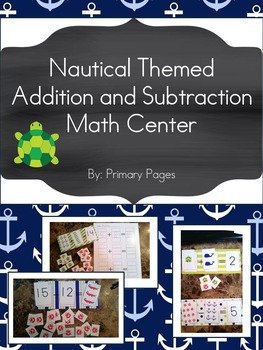 Nautical Themed Addition and Subtraction Math Centers