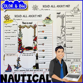 Nautical All About Me Poster