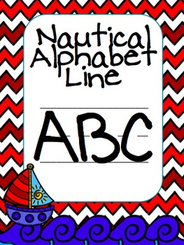 Chevron Nautical Themed Alphabet