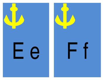 Nautical Themed Alphabet Cards