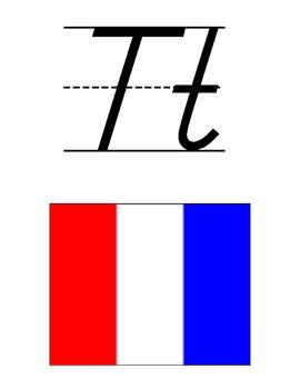 Nautical Themed Alphabet - D'Nealian
