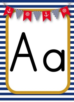 **Nautical Themed** Alphabet Posters - 3 Different options!