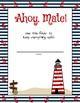 Nautical Themed Binder Cover Options