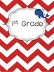 Nautical Themed Binder Covers (Red and Blue)