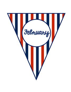 Nautical Birthday Balloons and Bunting Banner
