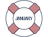 Nautical Themed Birthday Chart Display