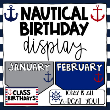 Nautical Birthday Editable