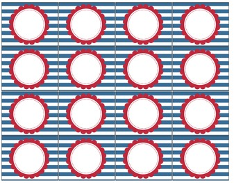 Nautical Themed Blank Classroom Labels