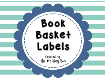 Nautical Themed Book Basket Labels