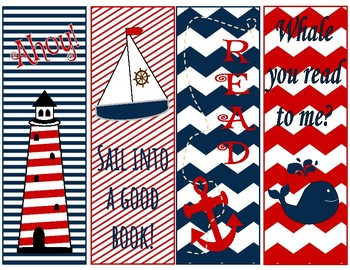 Nautical Themed Bookmarks