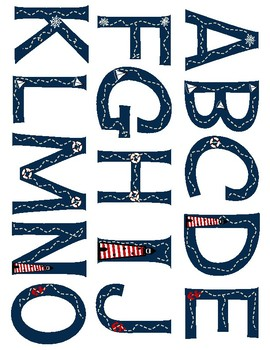 Nautical Themed Bulletin Board Letters