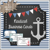 Nautical Themed Business Cards- EDITABLE