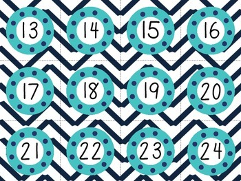 Nautical Themed Calendar (Red and Blue)