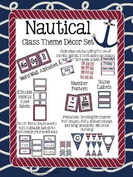 Classroom Decor Nautical Theme