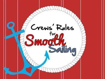 Nautical Themed Class Rules EDITABLE