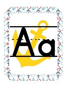 Nautical Themed Classroom ABC Printables