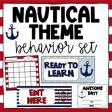 Nautical Themed Classroom Behavior - Editable