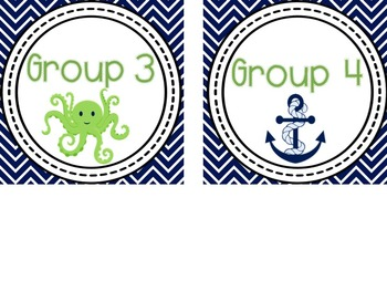 Nautical Themed Classroom Decor {Blue and Green}