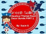 Nautical Themed Classroom Decor Bundle Part 1