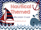 Nautical Themed Classroom Decor {Navy and Red}