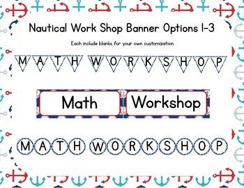 Nautical Themed Classroom Math/Center Workshop Setup