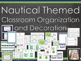 *EDITABLE* Nautical Themed Classroom Decoration and Organization Kit