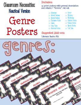 Nautical Themed ELA Essentials Poster BUNDLE + SPECIAL BONUSES!