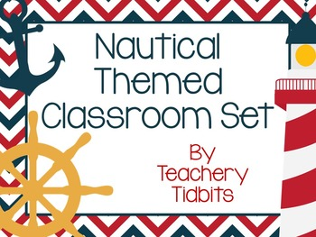 Nautical Themed Classroom Set {EDITABLE}