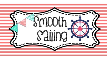 Nautical Themed Clip Chart Blue and Pink