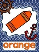 Nautical Themed Color Word Posters Full and Mini Size
