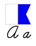 Nautical Themed Cursive Alphabet