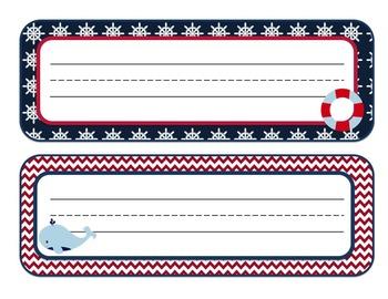 Nautical Themed Desk Name Plates