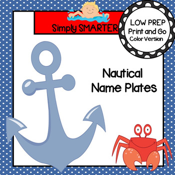 Nautical Themed Desk Name Plates with Alphabet and Numbers (1-20)