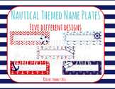 [EDITABLE] Nautical Themed Desk Name Tags. 5 different designs!