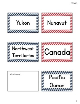 Nautical Themed Geography Word Wall
