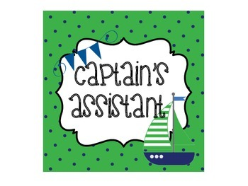 Nautical Themed Green and Blue Class Jobs