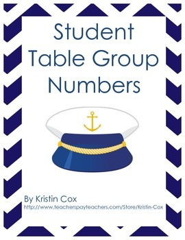 Nautical Themed Group Numbers