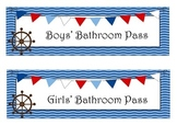 Nautical Themed Hall Passes