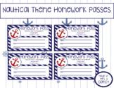 Nautical Themed Homework Passes