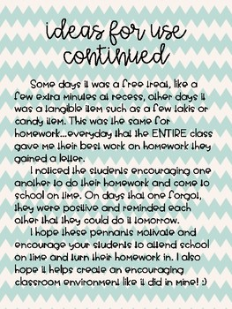 Nautical Themed Homework and Attendance Incentive Pennants