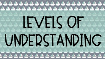Nautical Themed Levels of Understanding