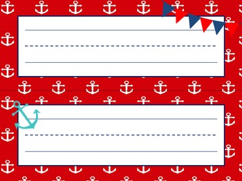 Nautical Themed MEGA PACK in Red and Blue