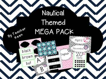 Nautical Themed MEGA PACK in Mint and Pink