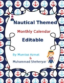 Nautical Themed Monthly Calendar (Editable)