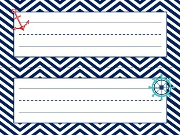 Nautical Themed Name Plates (Red and Blue)