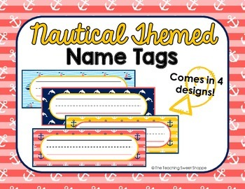 Nautical Themed Name Tags {FREEBIE FRENZY}